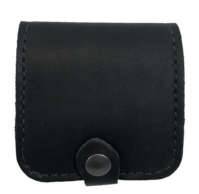 Leather RIFLE CARTRIDGE / AMMO / SHELL CARRIER CASE POUCH 5 Holder - NEW Black