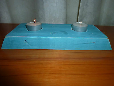 Candle Holder - Recycled Timber - Holds 2 candles Great gift