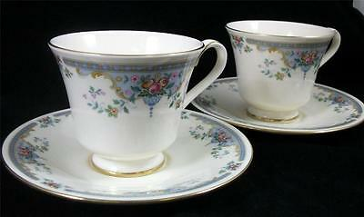 Royal Doulton JULIET 2 Cups/Saucers Fine English Bone China H5077 GREAT COND