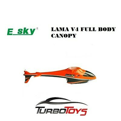 Esky 4Ch Lama V4 Helicopter Full Canopy Body Part 00402-Factory Stock-Aus Seller
