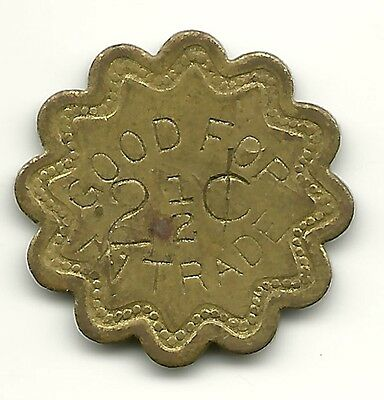 """(Td-47) Usa, Jak - """"good For 2 1/2 Cents In Trade"""" Token"""