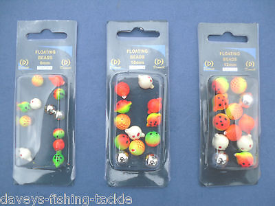 10 FLOATING RIG BEADS 8 10 12 mm SEA FISHING RIGS IN LINE FLOAT LURES POP UPS