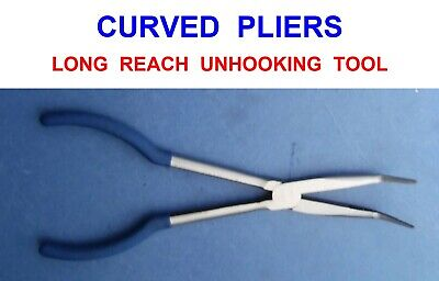 Long Curved Nose Unhooking Pliers Sea Boat Coarse Pike Fishing Hook Removal Tool