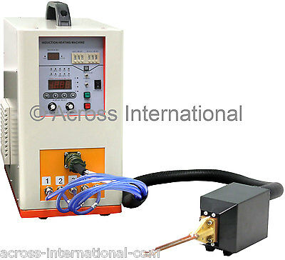 6.6KW 600-1100KHz Hi-Freq Solid State Compact Induction Heater Melting Furnace