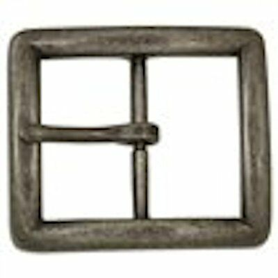 """Tandy Leather Econo Center-bar Buckle 1-1//2/"""" Antique Nickel Free Plate 1566-25"""