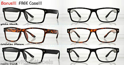 2316dca1ddbd 80s Retro Square Black Frame Clear Nerd Vintage Hipster GEEK Chic Glasses