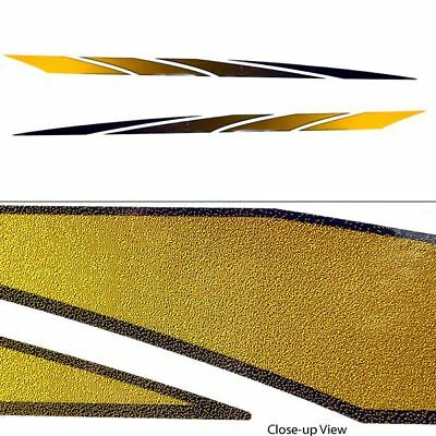 Glastron 0573063 72 X 3 Inch Black And Yellow Gradient Boat Decals (Set Of 2)