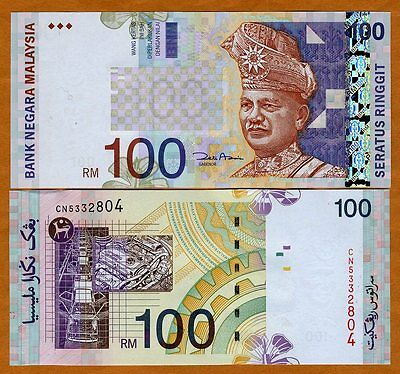 Malaysia, 100 Ringgit, ND ( 2001), P-44 (44d), UNC ---  OVD