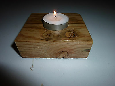Candle Holder - Recycled Timber - Holds 1 candle Great gift