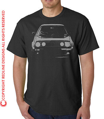 Mk 2 Golf Gti  Vw Volkswagen Mark Two Car T-Shirt Dtg All Sizes & Colours R62