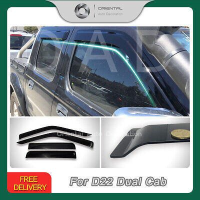 Premium Weather Shields Weathershields Window Visors Nissan Navara D22 97-15 (S)
