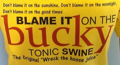 BUCKFAST TONIC WINE, Blame it on the Bucky, funny T-Shirt, Adult Men Ladies