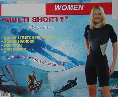 DAMEN SHORTY Half Premium Neopren-Anzug 3 mm YKK Triathlon S M L