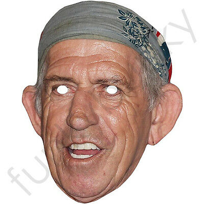 Keith Richards - Rolling Stones Celebrity Card Mask All Our Masks Are Pre-Cut