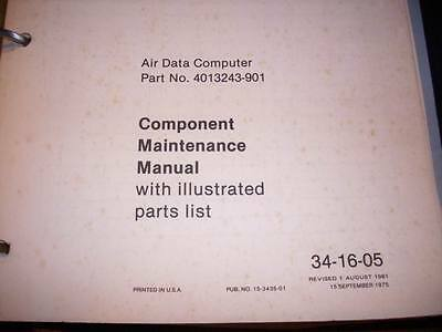 Sperry Air Data Computer Service Manual for 4013243-901