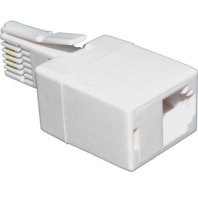 BT 431A Plug to 4 Pin RJ11 Socket Telephone Cable Adapter [006037]