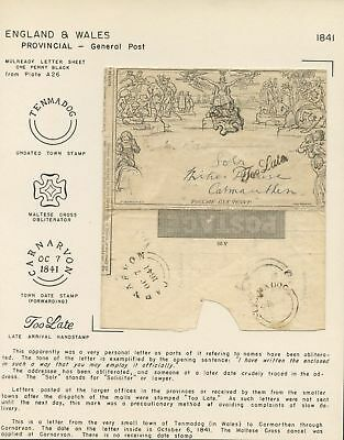 Mulready Letter One Penny Black From A26 On Presentation Cover Wl3889A
