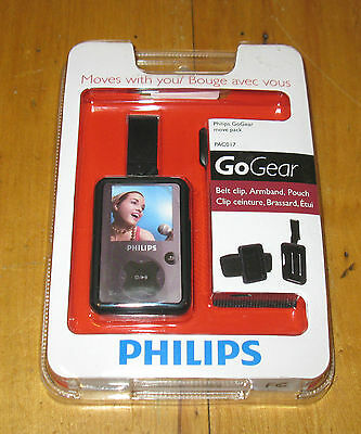 Philips Go Gear Move Pack PAC017 Belt Clip, Armband and Pouch New FREE SHIPPING