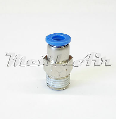 "1pc Push To Connect Straight Male Check Valve1/4""OD1/8""NPT MettleAir MCVC1/4-N01"