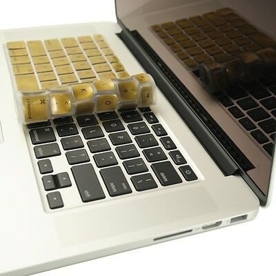 "METALLIC GOLD Keyboard Cover for NEW Macbook Pro 13"" A1425  with Retina display"