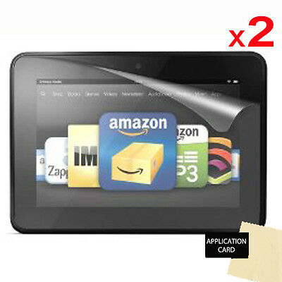 2 X CLEAR Screen Protector Guard for Amazon Kindle Fire HD 7 inch (2012/2nd Gen)