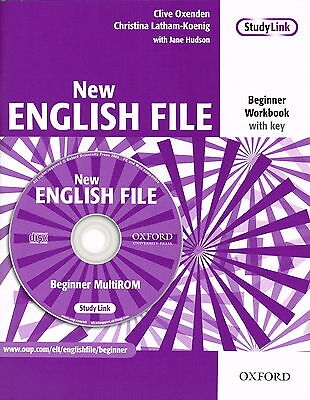 Oxford NEW ENGLISH FILE Beginner Workbook with Key &MultiROM @New@ 9780194518734