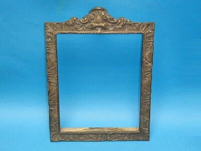"""ANTIQUE BRASS ORNATE PICTURE  FRAME ~ 12.75"""" x 9.5"""""""