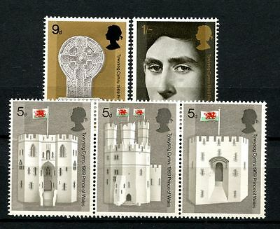 GB 1969 SG#802-806 Investiture The Prince Of Wales MNH Strip Set #A26345