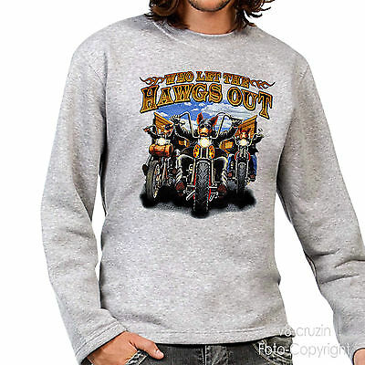 * Biker Chopper Fun  MC  T-Shirt *4302 ash-grau LS