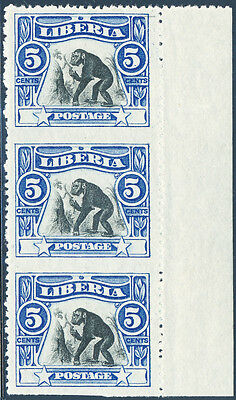 Liberia #103 Strip Of 3 With Imperf Between Major Error Hv3741