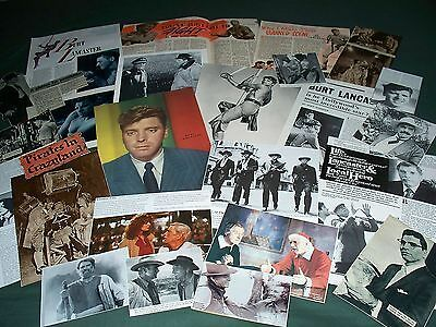 Burt Lancaster   -  Film Star - Clippings - Cuttings Pack