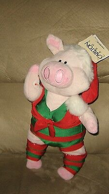 """New 16"""" Carlton Cards Christmas Pig """"Let's Get Physical"""" Animated Musical"""