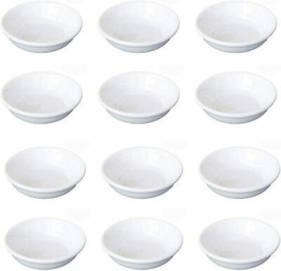 12x White Porcelain Soy Sauce Dipping Dish Plate A1887