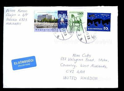Hungary 2005 Airmail Cover To UK #C2175