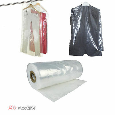 "Garment Cover Clear Polythene Bags 72"" Dry Cleaner Laundary Clothes Packing"