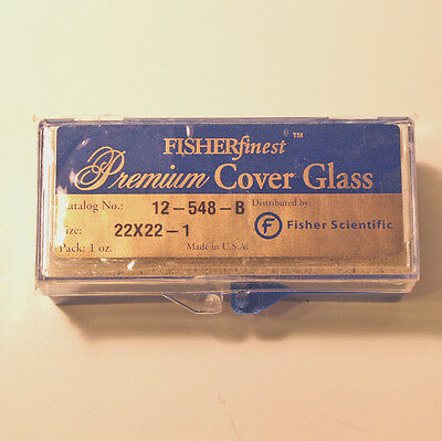 Microscope Slide Cover Slips - Fisher Brand Premium Frosted 22 x 22 mm