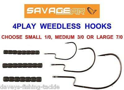 Savage Gear 4Play Weedless Hooks For Game Coarse Sea Fishing Lures Worms Shads