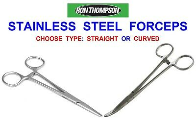 """Ron Thompson 6"""" Forceps Game Sea Coarse Fishing Stainless Steel Unhooking Pliers"""