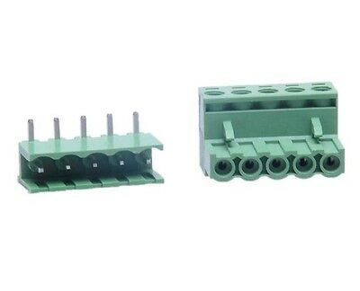 Phoenix Blocks Connector 5Pin (Male+Female) 20-Pack NEW FREE SHIPING