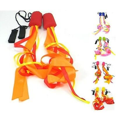 Pyro Pixies Ribbon Poi - Practice Poi Spinning - Kids or Adults Training Poi