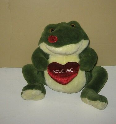 "Chubby 10"" Prince ""Smooches"" Kissing Sounds Pond Frog by Wishpets"