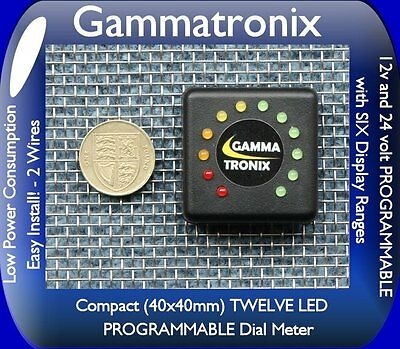 Gammatronix 12v 24v  LED battery monitor level meter indicator gauge bike car N