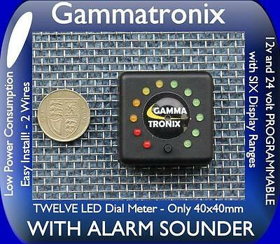 Gammatronix 12v 24v WITH ALARM battery monitor LED level meter indicator gauge M