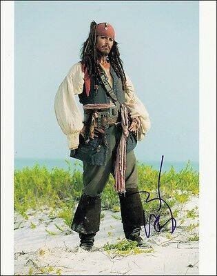 2 Johnny Depp Preprint Signed Photo 8x10 Autograph Pirates of the Caribbean Star