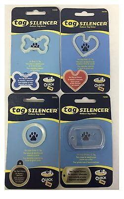 Quick-Tag Dog Tag Silencer *Stop Pet Tag Noise* Glows in the Dark