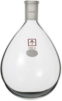 Ai 24/40 Heavy Wall 1000mL Oval-Shaped Round Bottom Evaporation Flask Short Path