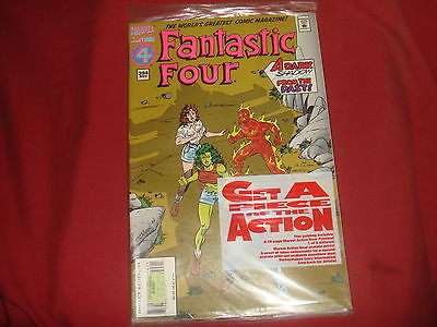FANTASTIC FOUR #394  Marvel Comics  Polybagged with promo 1994   NM