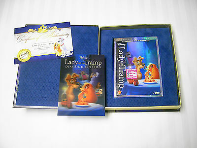 Lady and the Tramp DVD/Blu-ray Diamond Edt. Collector's Set Lenticular Card COA