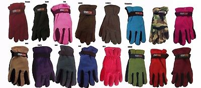 Men Women Lady Outdoor Sports Winter Fleece Thermal Insulation Gloves