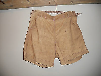 Early Antique Primitive Childs Tan Brown Britches Hand & Treadle Sewn 1800s